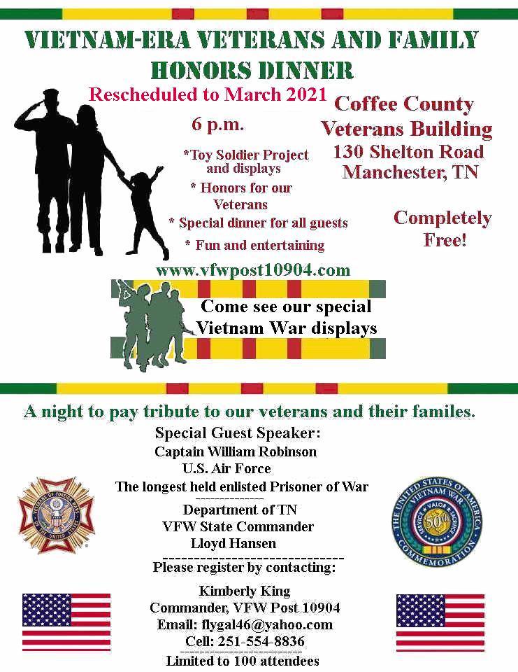 Coffee County Tn Fair 2020.Vfw Post 10904 Vietnam Era Veterans Honors Day And Fair